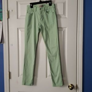 Banana Republic pastel green pants size 2